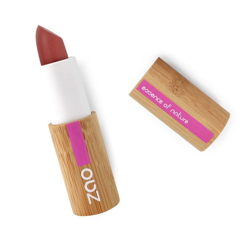 Labial orgánico mate 463 pink red